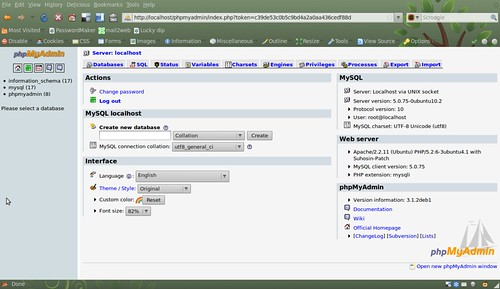 MySQL and PhpMyAdmin installed and working
