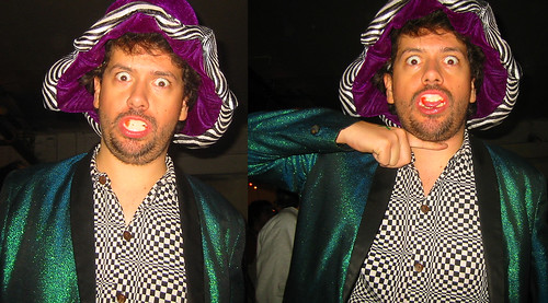 20081115 - SubGenius Devival in Baltimore - 0 - 171-7138-diptych-171-7139 - Clint - fangs, SubGenius salute - please click through to leave a comment on FlickR