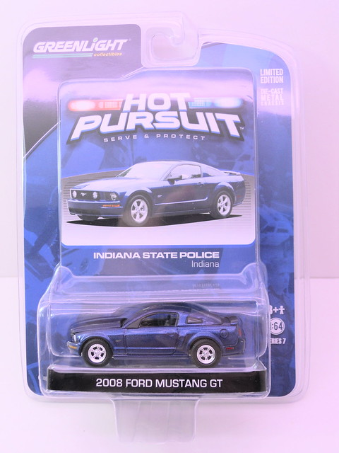 greenlight hot pursuit 2008 ford mustang gt indiana state police (1)