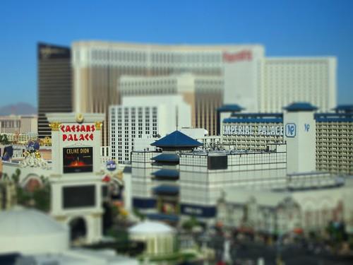Vegas strip, Tiltshifted