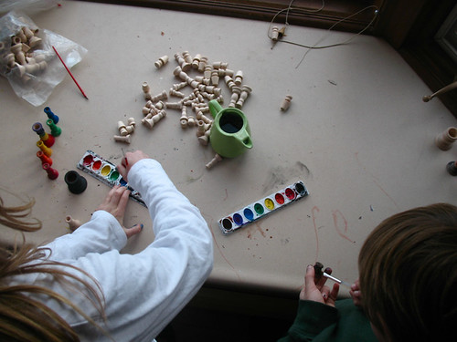 painting chess pieces
