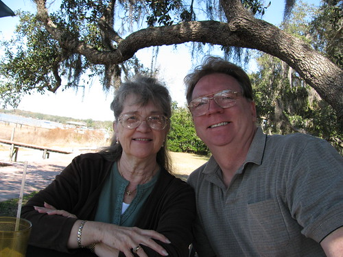Mama and John at lunch