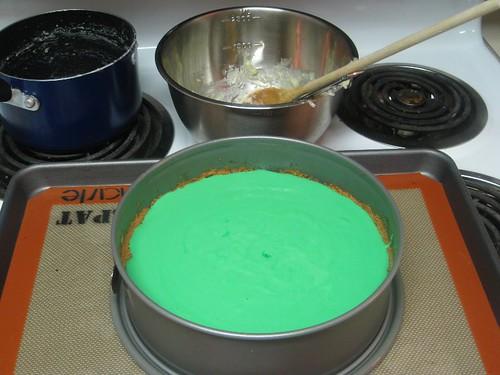 Add the key lime custard