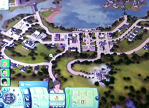 5/23/10 - 3 Overview shots of Twinbrook from The Sims 3 Ambitions