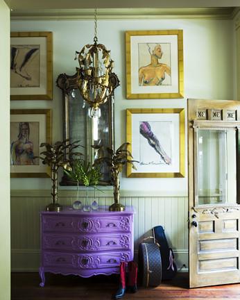 James Merrell purple dresser