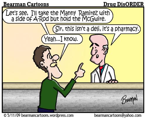 5 11 09 Bearman Cartoon Manny Ramirez copy