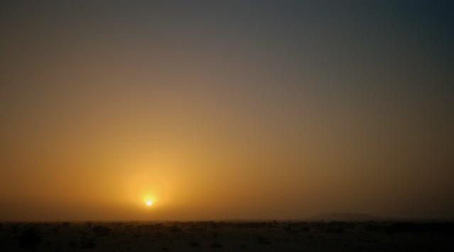 Sunset in Omani desert