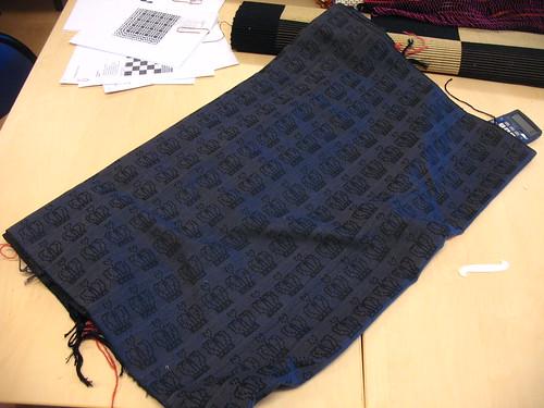 damask fabric - finished