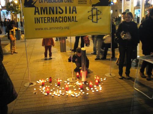 Acto Amnistia Internacional Cordoba Genocidio en Gaza Boulevard Gran Capitan.