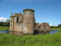 Caerlaverock Castle near Dumfries, South West ...