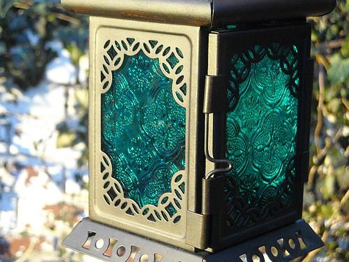 Teal Lantern (Christmas gift)