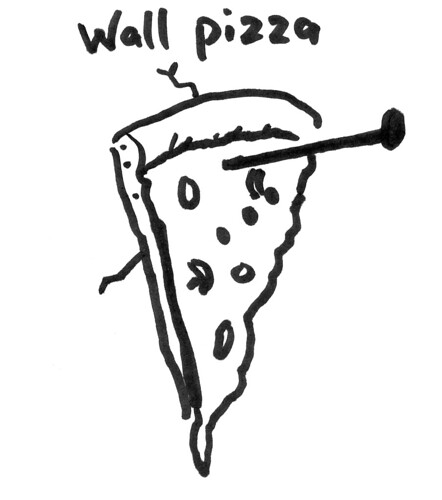 Wall pizza