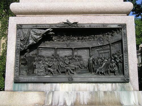 detail of Webster Statue
