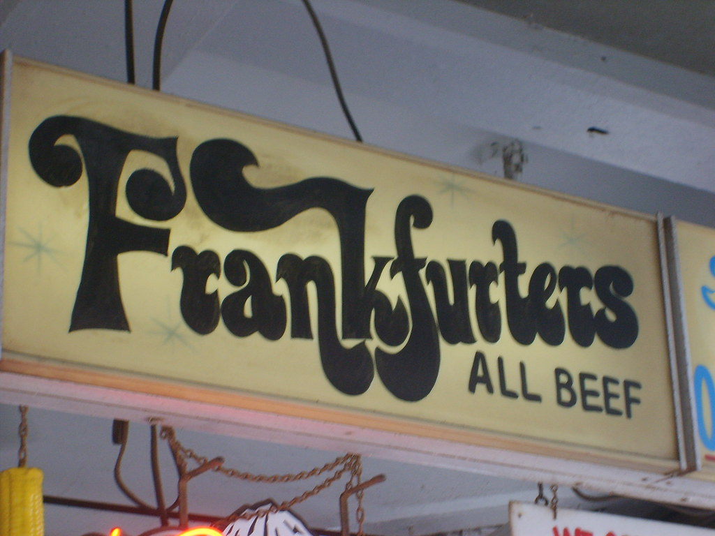 Hand Painted signs at the food vendors