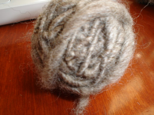 First handspun wool - spindle