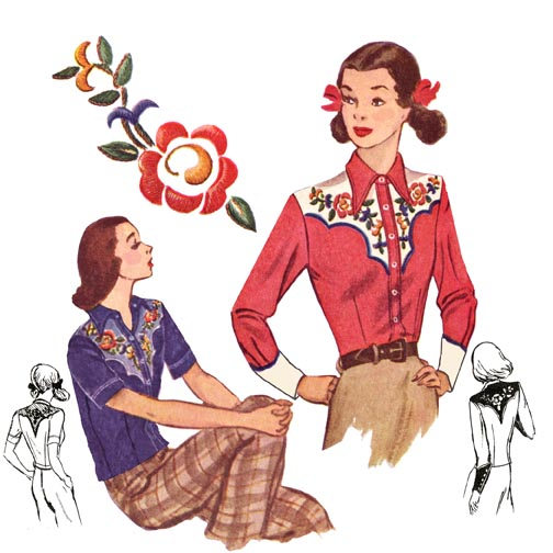 4008 1940's Rodeo Girl Shirt