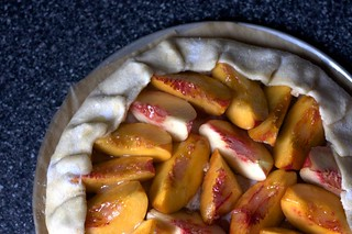nectarine-almond tart, ready to bake
