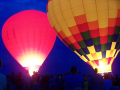 The balloons glowing
