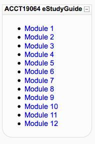 Moodle eStudyGuide block