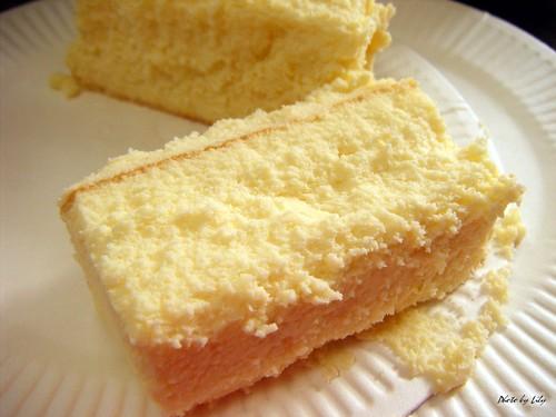 貝克利蛋糕烘培屋之原味起士蛋糕斷面圖。
