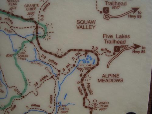 Five Lakes Trail Map