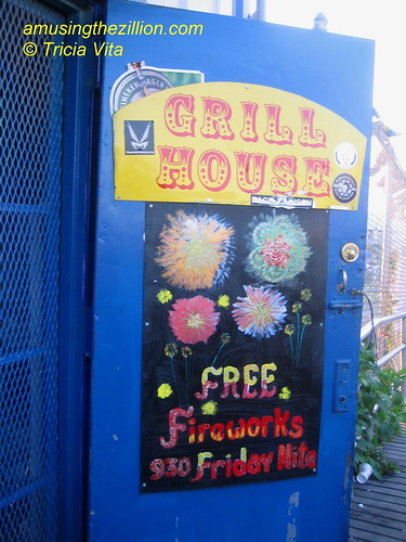 Door of the Grill House. Photo © Tricia Vita/me-myself-i