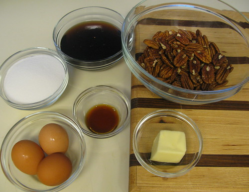 Ingredients needed for the Perfectly Luscious Pecan Pie