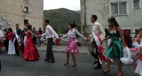 Gypsy Wedding Dance in a village we drove through
