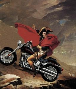 Napoleon Bonaparte on a Motorcycle (Photoshop) by khateeb88.