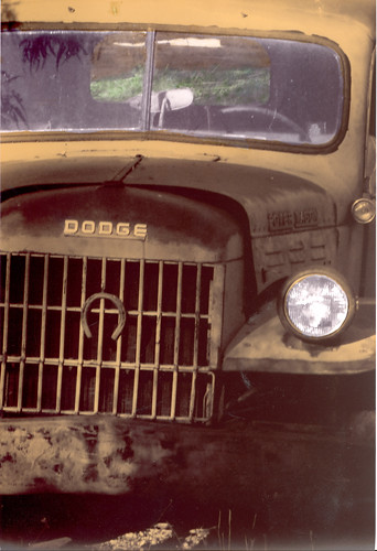 Hand color photo of an old Dodge (c) Lynne Medsker