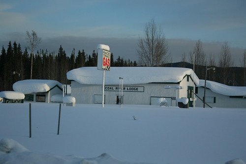 many gas stations along the alaska highway close down for the winter.