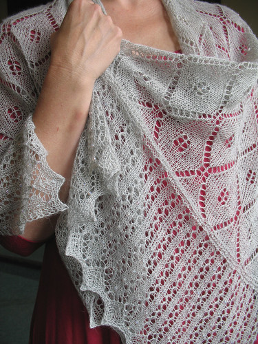 This is a rectangular shawl - so pretty!