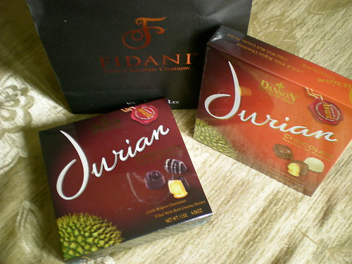 Durian chocs from 3iling