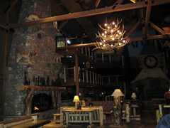 Lobby of the Great Wolf Lodge