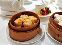 Steamed Pork Dumplings with Crab Coral
