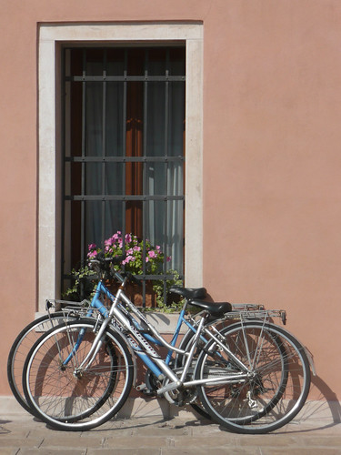 Bicicletas en Santa María del Mar - Venecia