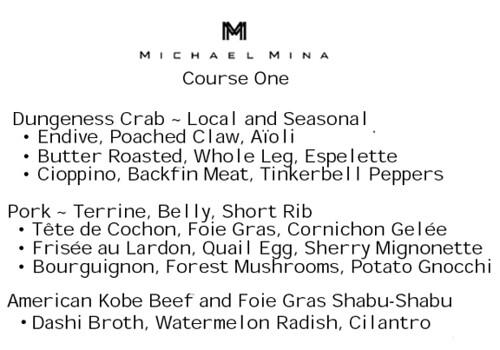 Course One at Michael Mina, MyLastBite.com