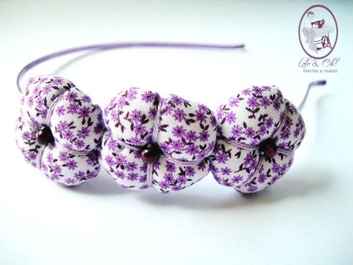 Diadema flores lila