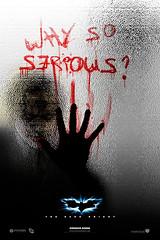 Poster-teaser do Coringa em Batman, o Cavaleiro das Trevas: Why So Serious? CLIQUE PARA AMPLIAR ESTE POSTER