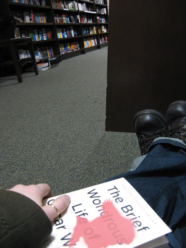 Reading (an excellent book, by the way) in a bookstore was a nice way to spend a rainy afternoon.