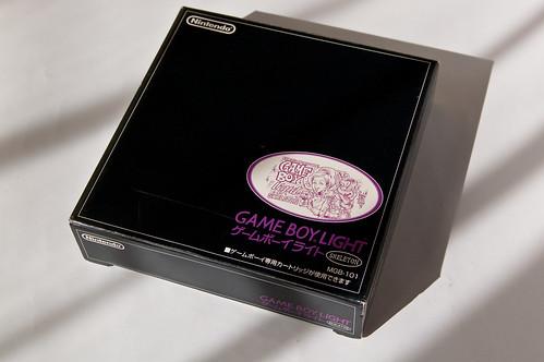 Gameboy Light Skeleton Famitsu edition box (front)