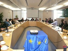 La delegación de CHA se reúne con los eurodiputados