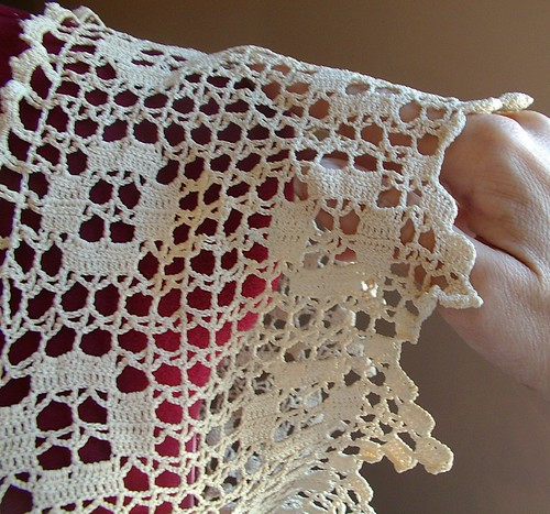 crochet yoke antique