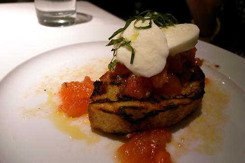 Housemade Mozzarella and Tomato Bruschetta