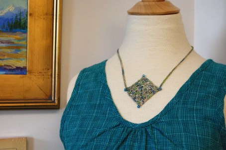 Granny Square Necklace - 1