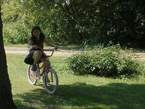 Sophia Riding Her Bike