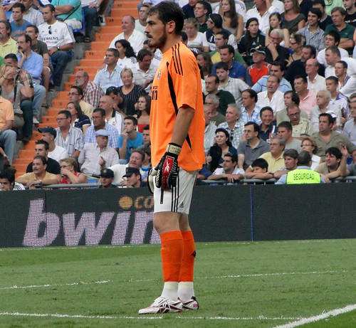 Casillas following the play