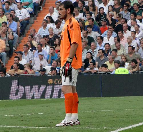 Casillas following the play
