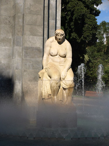 The woman with the big boobies