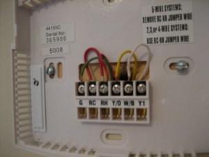 Problem: Goodman GMNT To Hunter 44155C Thermostat  HVAC